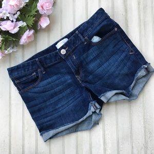 Express Dark Wash Denim Shorts